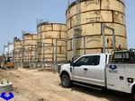 View of Automation and Electronics, Inc. truck at Houston, TX chemical plant grounding grid expansion.